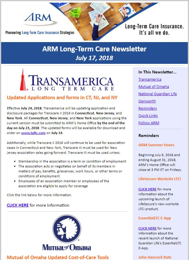 ARM Home | Long-Term Care Insurance